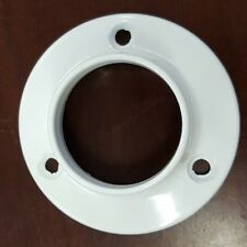 White 1 inch Round Rail Fittings Wardrobe Tube Clothes Hanging End Brackets