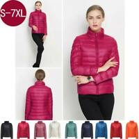 Women's Ultralight 90% Duck Down Puffer Jacket Coat Warm Stand Collar Slim