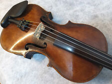 Excellent German violin - late 19th century with wooden coffin case