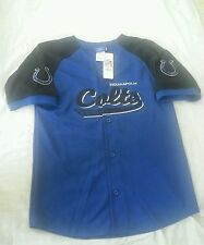 Indianapolis Colts NWT Youth Size XL 18-20 Button-Up Jersey