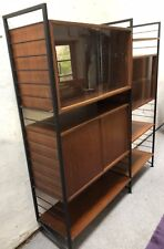 SUPERB 2 BAY SMALL TEAK LADDERAX SHELVING /DISPLAY STAND BOOKCASE WE DELIVER