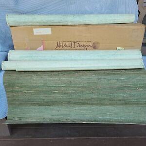 VTG Grasscloth Wallpaper Natural Woven Grass Cloth Wall Paper MCM BOHO lot of 3