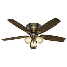 "52"" Brushed Bronze Led Indoor Ceiling Fan with Light Kit"