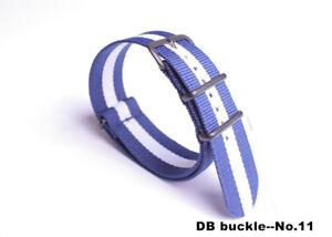 wholesale Nylon casual canvas Watch Strap Wristwatch Band DB Black buckle Fabric