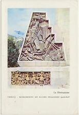 TRENTO - MONUMENTO AD ALCIDE DE GASPERI 1975