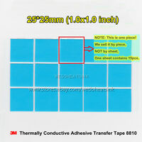 10pcs 25x25mm 3M 8810 High Performance Thermal Conductive Adhesive Transfer Tape