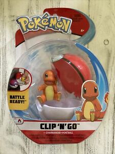 Pokemon Clip 'n' Go Charmander & PokeBall Action Figure