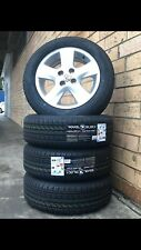 Toyota Yaris 4 Stud Genuine Set Of 15 Inch Wheels And Tyres Silver