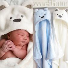 Kinder Baby Jungen Mädchen Bademantel Badetuch Duschtuch Schlafsack Decke Kapuze