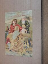 Postcard Happy Christmas and A bright new year posted 1910  xc2