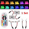 Remote Control RGB LED Car Roof Dome 2pcs T10 5050 12SMD Reading Light Lamp Bulb