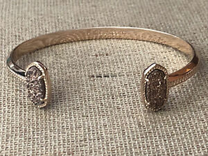 Kendra Scott Elton Rose Gold Drusy Druzy Cuff Bracelet