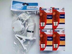 Chick Brooder Starter Kit Spares (Chicks,Ducklings, Quails) Heat lamp & 4x bulbs