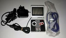 GBA SP Nes Style + Charger + Car Charger + Gamecube Adapter