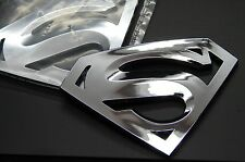 (2) SUPERMAN 3D EMBLEM,BADGE,DECAL,STICKER (SET OF 2) FOR CARS TRUCKS US SELLER