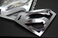 SUPERMAN 3D EMBLEM,BADGE,DECAL,STICKER (SET OF 2) FOR CARS TRUCKS US SELLER
