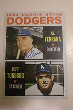 Al Ferrara SIGNED Dodgers 1964 Topps 337 Rookie Stars RC/Jeff Torborg RC PSA ITP