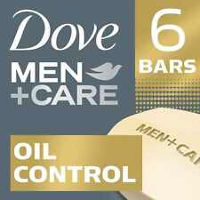 6 BARS Dove Men + Care Body and Face Bar Soap Oil Control For Healthier Skin
