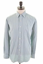 POLO RALPH LAUREN Mens Shirt Size 40 15 1/2 Medium Green Candy stripe Cotton