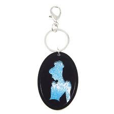 Disney Parks  Blue Swarovski Crystals Cinderella Keychain Keyring Mirror