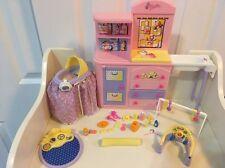 Barbie Happy Family Baby Krissy Nursery Dresser Changing Table Bathtub Lot