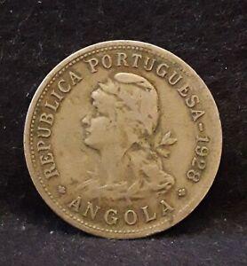 1928 Portuguese Angola (Colony) 50 centavos, KM-69 (AN10)