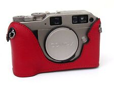 Leather Contax G1 or G2  Red Half Case - BRAND NEW