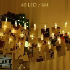ZORARA LED String Lights, Photo Clips String Lights - 6M 40 LED Fairy Light