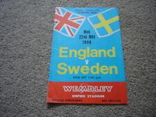 More details for england v sweden, international match, may 1968 - signed by 2.