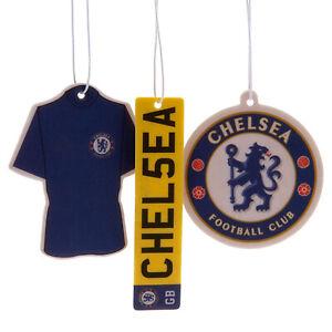Chelsea FC Club 3Pk Triple Car Air Freshener Freshner CFC EPL Blues