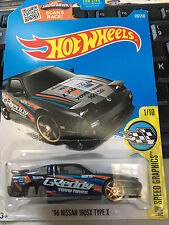 1/64 Hot wheels 96 Nissan 180SX Type X Black Error shipeed in a protector