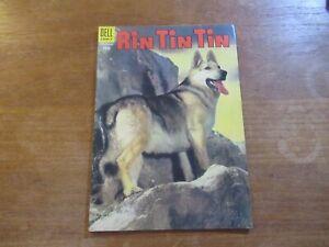 RIN TIN TIN #9 DELL GOLDEN AGE HIGH COMIC GRADE BEAUTIFUL 1950'S TV SHOW