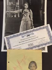 SIGNED MARY PICKFORD ALBUM PAGE 1938 2 COA'S UACC REGISTERED DEALER RARE