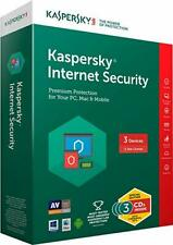 2019 Genuine Kaspersky Internet Security For 3 Windows PC