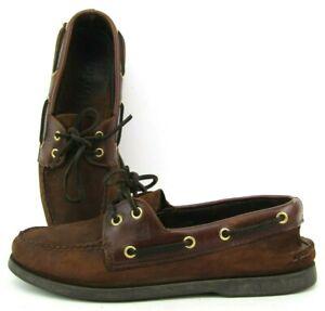 Sperry Top Sider 2-Eye Original Brown Men's 0195412 Size 9 M Shoe Loafer