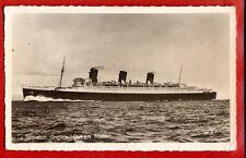 "SHIP OCEAN LINER "" QUEEN MARY "" VINTAGE PHOTO POSTCARD 2566"