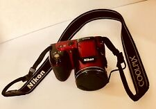 *Nikon* COOLPIX L810 16.1MP Digital Camera - Red & Matching Van Goddy Camera Bag