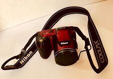 NIKON - COOLPIX L810 16.1MP Digital Camera - With Matching Red Camera Bag