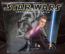 Star Wars Heroes & Villans Calendar 2003 Unopened