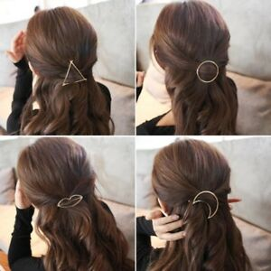Hair clip Circle moon Triangle lips Hair Clip Boho Circle FREE POSTAGE