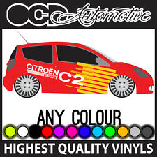 CITROEN C2 RACE RALLY GRAPHICS STICKER DECALS KIT HDI VTS
