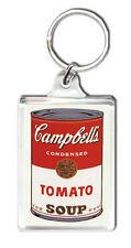CAMPBELLS TOMATO SOUP ANDY WARHOL KEYRING LLAVERO