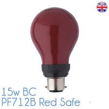 Pf712b 15w 230v Darkroom Safelight Lamp Bulb Bayonet Fit