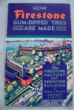 1933 Firestone Gum-Dipped Tires Chicago Century of Progress Exposition Booklet
