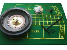 Boxed Roulette +Blackjack set - Chips Rake Felt / Layout - 26cm Wheel