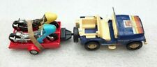 PRE OWNED  CORGI 447 Blue Open Top Renegade Jeep +Trailer & Two Bikes Gift Set