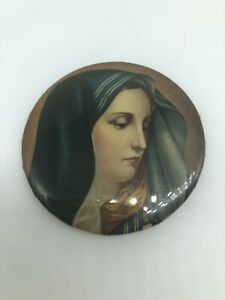 Mother Mary Religious Purse / Pocket Mirror - 2 inches