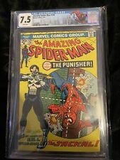 AMAZING SPIDERMAN #129 Feb 1974 1st Punisher CGC 7.5 WHITE PAGES Custom Label