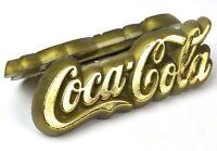 Coca Cola Coke Plastik Tischaufsteller Menü Speisekarten Halter Logo gold-farbig