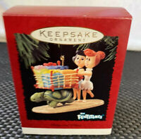 Hallmark Keepsake Christmas Ornament Flintstones Betty and Wilma 1995 In Box